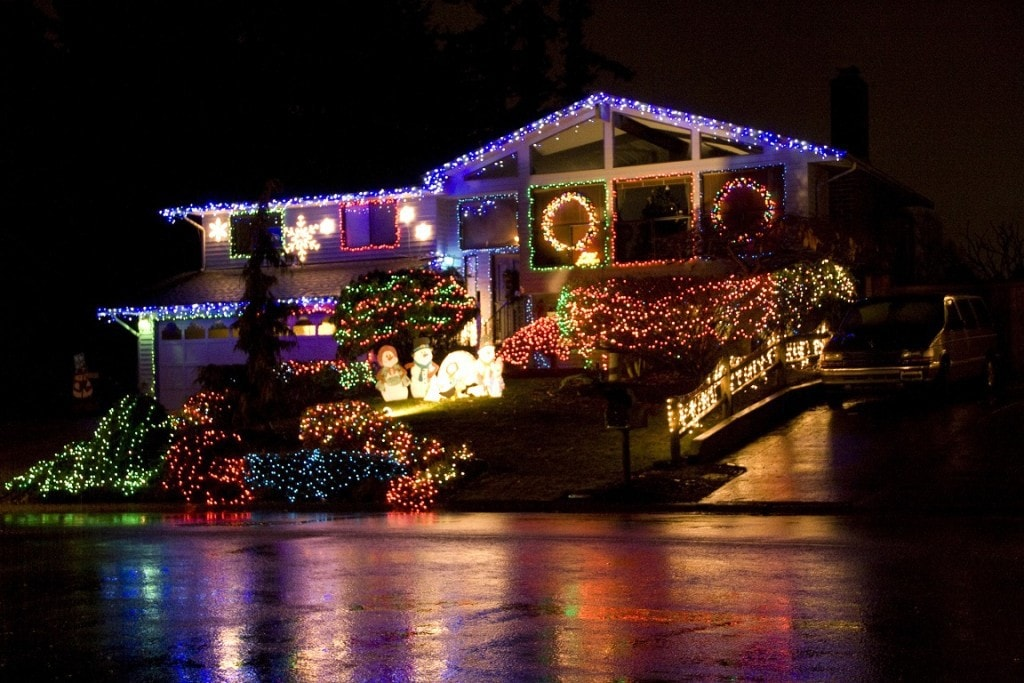 Resized Christmas Lights House